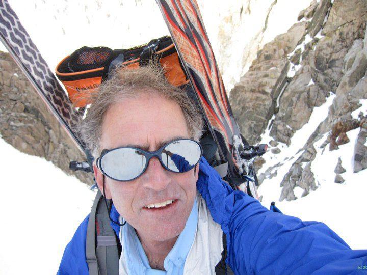 Here I am exhausted climbing Southfork Pass, Palisades, Sierra Nevada.