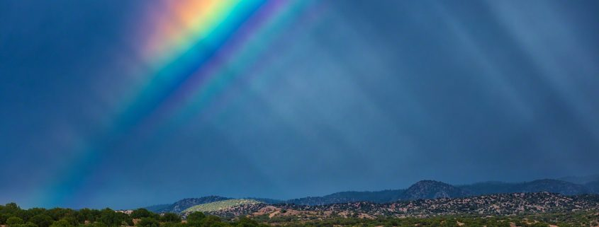 Supernumerary Rainbow over the Sangre de Cristo Mountains, New Mexico.