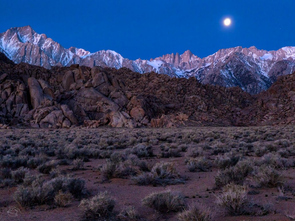 Moon over the Mount Whitney Crest