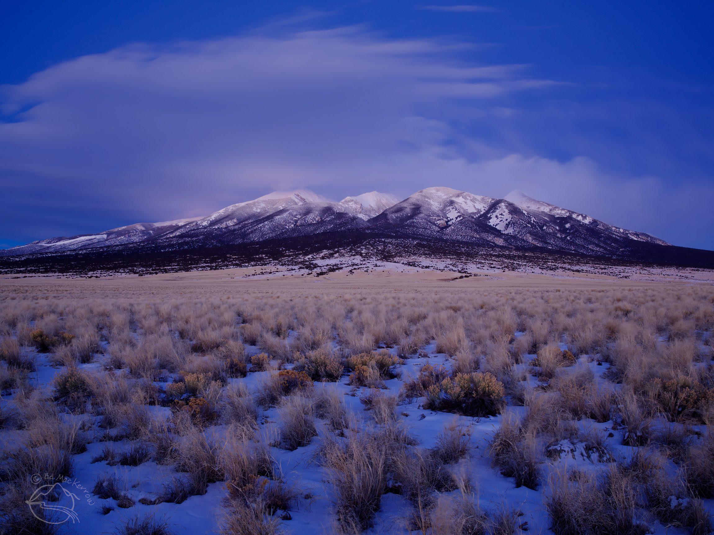 Blanca Peak in the Blue Hour
